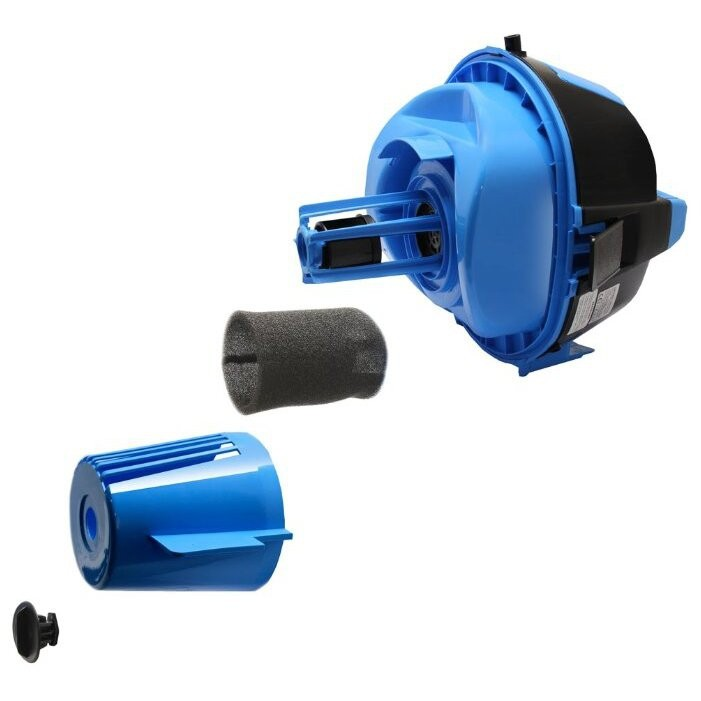 Моющий пылесос с аквафильтром Ginzzu VS731 черный/синий