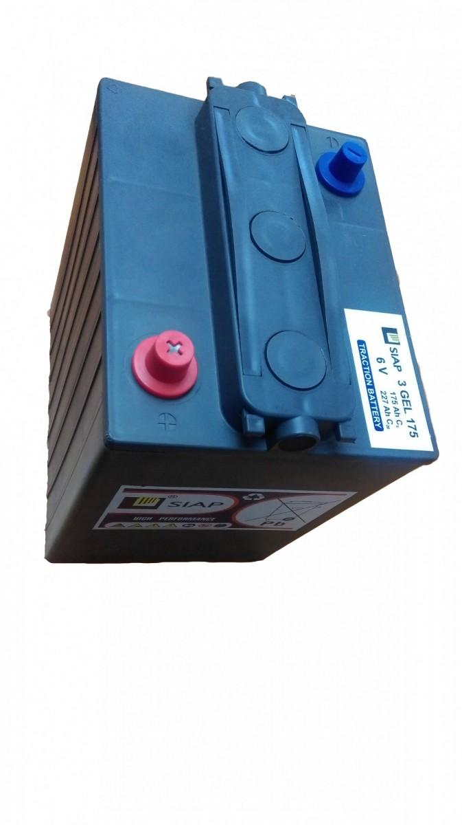 Тяговая гелевая аккумуляторная батарея SIAP 3 GEL 175