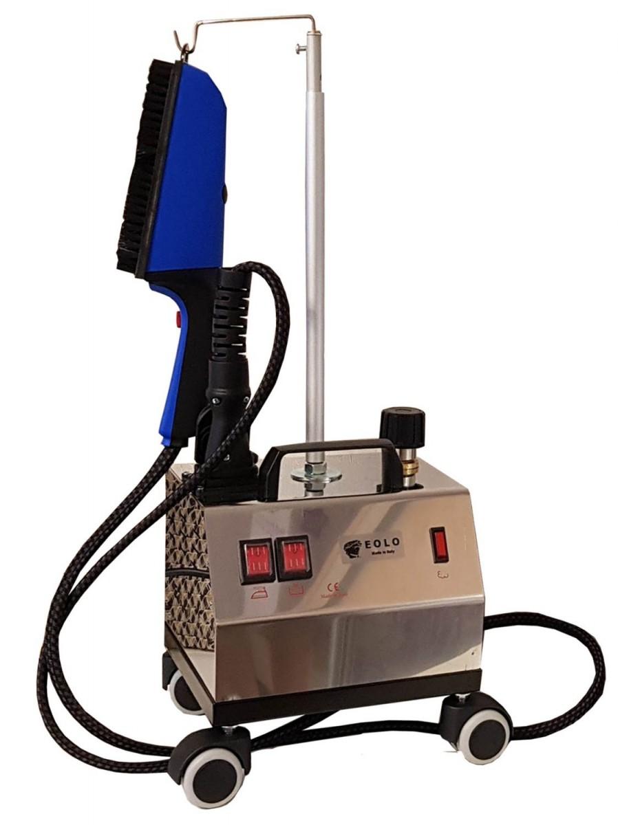 Отпариватель (парогенератор) с щеткой и утюгом Eolo AV-02 Inox DUAL