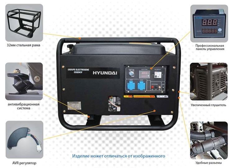 Генератор бензиновый HYUNDAI HY7000SE
